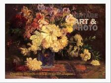 large16x20 small 17.5x14 T. C. Steele still life with peonies 1915