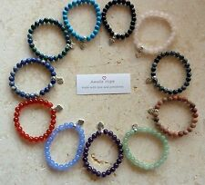 AMELIE HOPE CRYSTAL HEALING STAR SIGN/BIRTHSTONE/ ZODIAC GEMSTONE BRACELET
