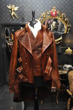 Mens Steampunk Dieselpunk leather military victorian mourning jacket tailcoat