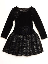 Isobella & Chloe Jazzlyn Little Girls Black Velvet Party Dress 4, 5 $56 NWT