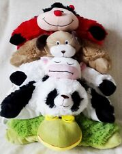 CHILDRENS KIDS INFANTS 2 IN 1 ANIMAL PET CUDDLE CUSHION PALS BED PILLOW TRAVEL