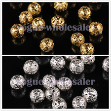 200pcs 4mm Round Metal Spacer Beads Jewelry Making Loose Charms Findings Bulk
