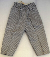 Vintage childrens clothes UNUSED 1950s check trousers Age 18-24 months TRIMSONA