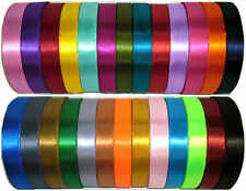 TOP QUALITY DOUBLE SIDED SATIN RIBBON, 38MM, 5 MTRS, ASSORTED COLS, ART 0422