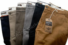 ORIGINAL DOCKERS D1 MEN TROUSERS SOFT KHAKI CHINOS STRAIGHT LEGS SLIM FIT PANTS