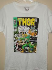 Marvel Comics Women Licensed White (The Mighty Thor Comic Book Cover) T-shirt
