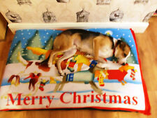 Cheap Christmas Design  Fleece Deluxe Waterproof Dog Bed,Dog Beds,Dogbed,