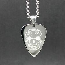 Custom Guitar Pick Necklace Engraved with a personal message on back for free