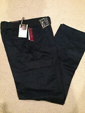 NWT Boy's LR Scoop Navy Blue Slim Fit Belted Cargo Pants ALL SIZES 8-18