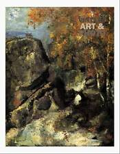 large16x20 small 17.5x14 Paul Cezanne rock in the forest of fontainbleau 1868