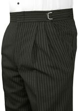 Boys Gray Hickory Striped Morning Trousers Victorian Pants Ring Bearer Wedding