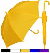 """Lot of 12 New RainStoppers 32"""" Children Kid Solid Color Umbrella-Free Shipping"""