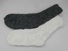 Woolen socks, HAND KNITTED, mens/womens, 100% NATURAL SHEEP WOOL, one size !!