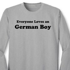 Everyone Loves A German Boy T-shirt Funny Heritage Germany Gift Long Sleeve Tee