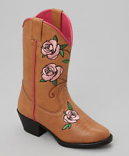 Smoky Mountain Girls Rose Cowboy Cowgirl Boots Pink Brown- Kids Sizes 13 1 2 3