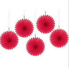 Hanging 6 inch Mini Fan Decorations Set (Package of 5)