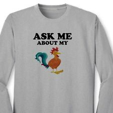 ASK ME About My Cock Funny Offensive T-shirt Gag Gift Rude Joke Long Sleeve Tee