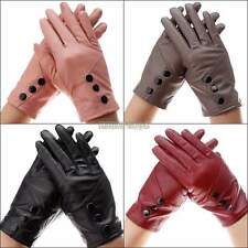 Women's Genuine Lambskin Leather Sheepskin Gloves Winter Warm Soft Lined Driving