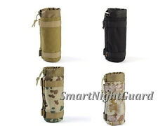 Militray Tactical Molle Water Bottle Hydration Pouch Top Open Bag Carrier Hiking
