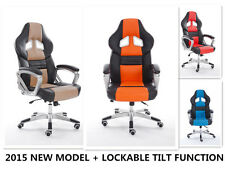 HIGH BACK EXECUTIVE OFFICE RACING GAME CHAIR LEATHER COMPUTER DESK FURNITURE