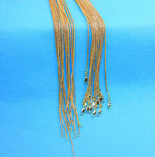 1PCS Wholesale DIY 16-30inch Wholesale Jewelry 18K GOLD FILL Box Chain Necklaces