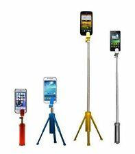 Popscope Smart Phone Selfie Stick & Tripod in Blue Red Gray or Gold