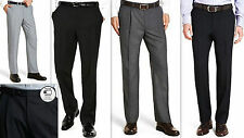 Mens Trousers WASHABLE WOOL BLEND Formal Business Office
