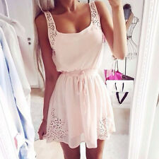 Sexy Summer Women Casual Dresses Sleeveless Cocktail Short Mini Dress Gorgeous