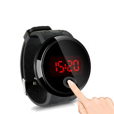 Waterproof Mens Womens Digital LED Touch Sports Silicone Bracelet Wrist Watch US