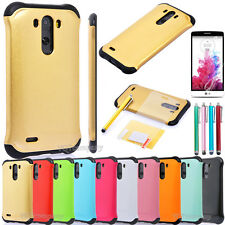 Shockproof Hard Armor Phone Case Cover For LG G3 + Screen Protector + Stylus Pen