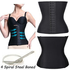 4 Spiral Steel Boned Waist Training Cincher Flexible Underbust Corset Shaper 889