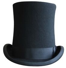 Quality Black Wool Felt Stove Pipe. Lincoln, Victorian style top hat. fast post