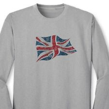 British Flag Britain Union Jack T-shirt United Kingdom England Long Sleeve Tee