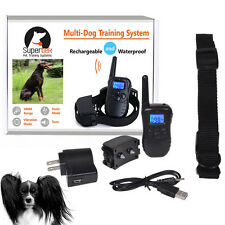 Bluescreen Waterproof Remote Shock Rechargeable LCD Pet Dog Training Collar SP2G