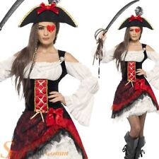 Ladies Glamorous Pirate Costume Sexy Caribbean Sailor Fancy Dress Adult Outfit