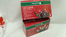 Merry Brite 100 Christmas Holiday Outdoor Steady or 2-way Flashing Light String