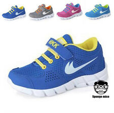 Kids Child Boys Girls Breathable Fashion Sneakers Running Casual Sport Shoes T40