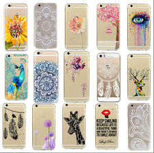 Ultra Thin Fashion Pattern Clear Soft Phone Back Case Cover For Iphone 5/5S/5C 6