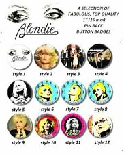 "BLONDIE/ DEBBIE HARRY/ PUNK ROCK/ 1970'S/ 1980'S/ 25 MM/ 1 "" BUTTON BADGE"