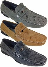Men Brixton New Leather Driving Casual Shoes Moccasins Slip On Loafers Nile_09