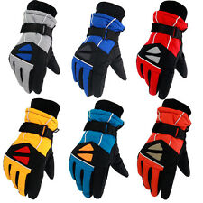 Waterproof Kids Boys Girls Warm Skiing Ski Gloves Snow Gloves Winter 4-8 Years