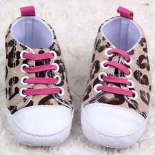 Kid Baby Girl Infant Toddler Soft Sole Leopard Shoes Prewalker Cribs Shoes 0-12M