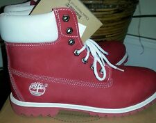 Red Bottoms Grape Fruit Red Timberland Boots red white size 8 - 10 - 12