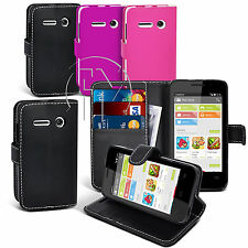 Book Wallet Leather Case Cover Pouch For Vodafone Smart 4 Mini