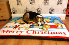 Cheap Christmas Design Fleece Deluxe Waterproof Dog Bed,Dog Beds,Dogbeds,