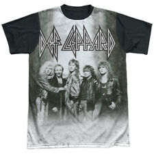 Def Leppard The Band Licensed Sublimation Black Back Adult Shirt S-3XL