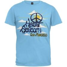 Haight Ashbury - Peace Rays Blue Adult Mens T-Shirt