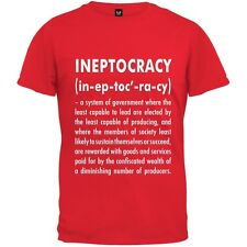 Ineptocracy Definition Red Adult Mens T-Shirt