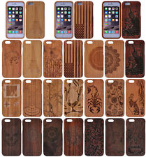 100% Natural Wood Wooden Bamboo Hard Phone Cases Covers for Apple iPhone 5 5S SE