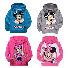 Cute Mickey/Minnie Mouse Kids Boys Girls Hoodies Coat Outerwear Children Clothes